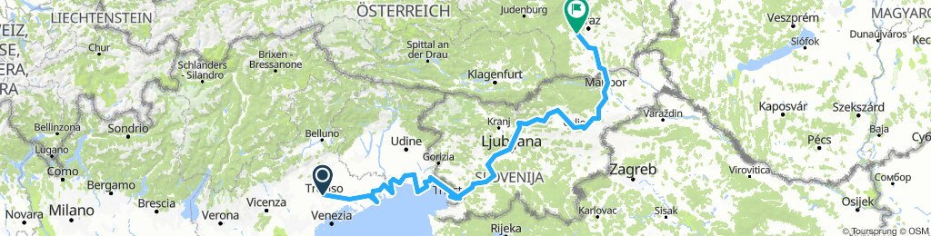 Treviso to Graz