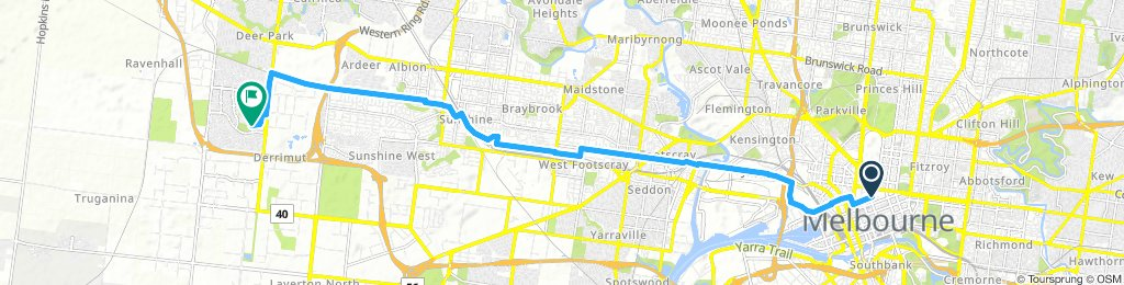 Lengthy Afternoon Ride home to Derrimut
