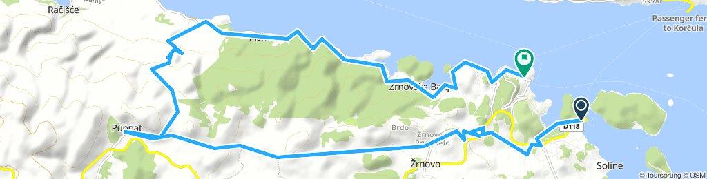 Orebic-Korcula-Pupnat Nordküste