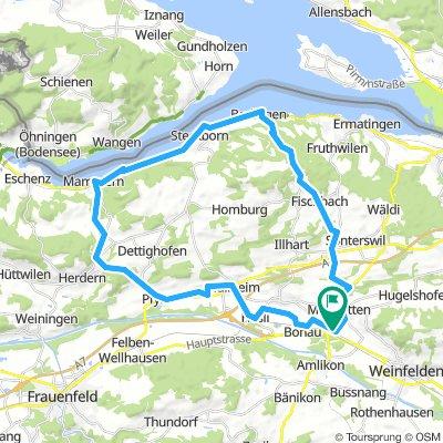 Märstetten - Pfyn - Mammern - Steckborn - Berlingen - Hattenhausen - Wagerswil - Märstetten