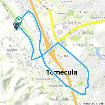 Temecula, California | Behind the wheel test route 1