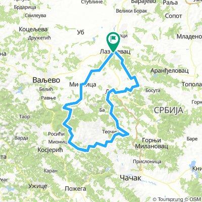 Sopic Zeoke Burovo Lazarevac Bikemap Your Bike Routes