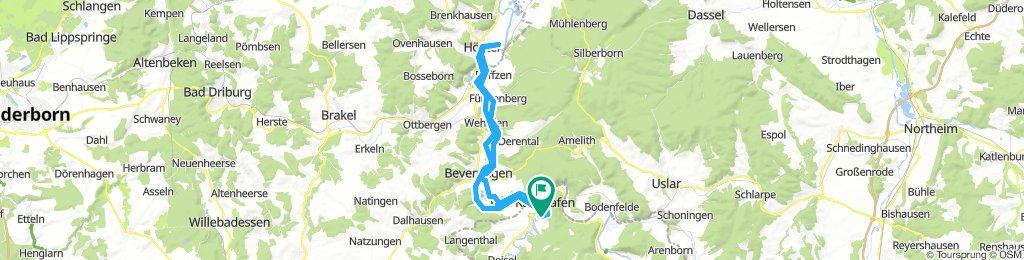 Weserradweg Helmarshausen-Höxter