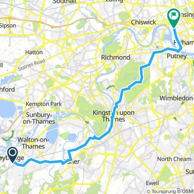 Weybridge to Charing Cross Hospital