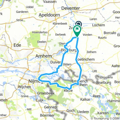 Zutphen-Kleve-Nijmegen-Zevenaar-Zutphen