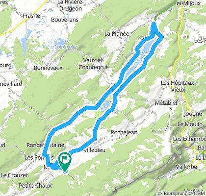 boucle:  Mouthe - lac Saint Point