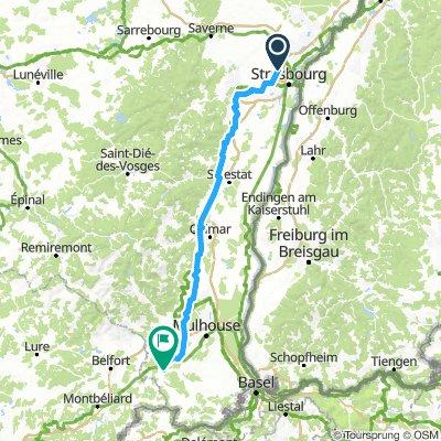 Niederhausbergen - Dannemarie par la route du vin