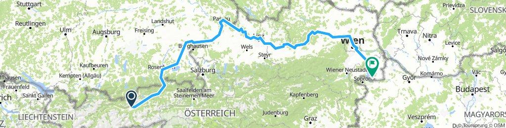 Fernradtour Innsbruck - Wien - Burgenland (Seewinkel) 2013