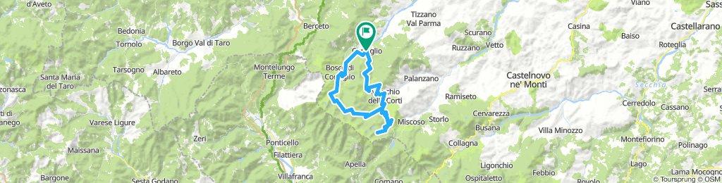 Corniglio - Lagoni - Passo della Colla - Prato Spilla - Passo di Ticchiano (Parma)
