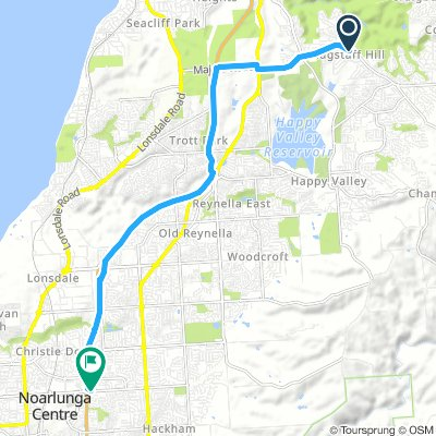 Flagstaff Hill to Noarlunga, Route