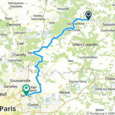 PARIJS DAG 5/DAG 6 Vic-sur-Aisnes -(Senlis)- Sevran 13 augustus (14 augustus)