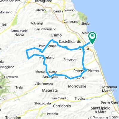 Loreto - Potenza Picena - Montelupone - Montefano - Filotrano