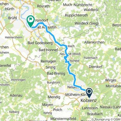 Alternative zum Rhein: Wied