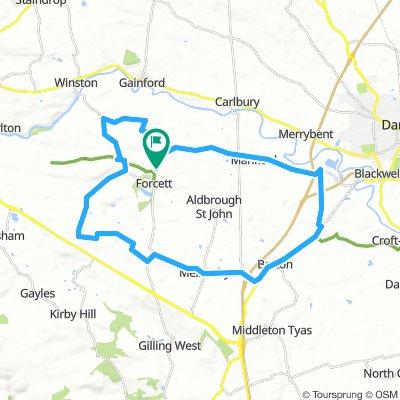 Eppleby Cauldwell West Layton Melsonby Barton Cleasby Mansfield