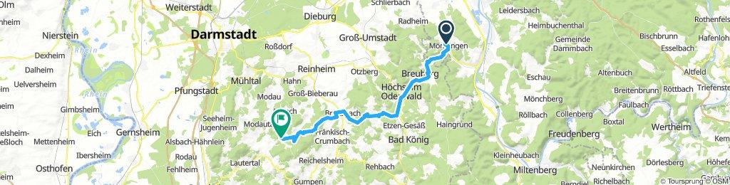 Momlingen to Lutzelbach
