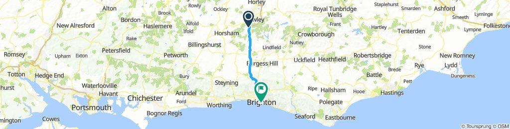 Pease Pottage to Brighton