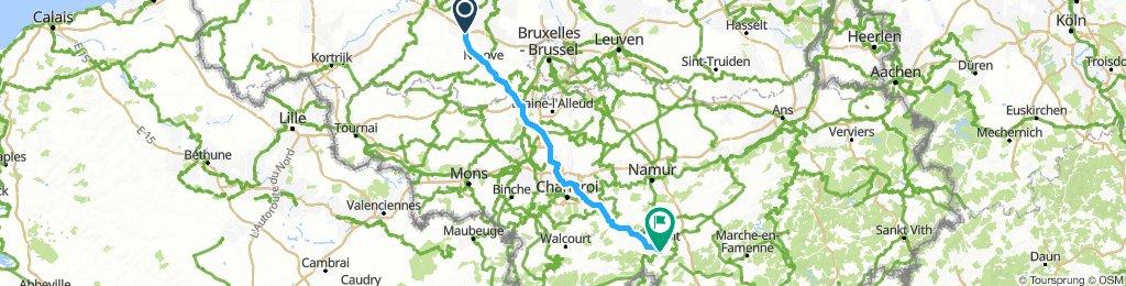 Trip to Paris: Day 1 Bambrugge to Pont-à-Celles// Day 2  Pont-à-Celles to Anseremme