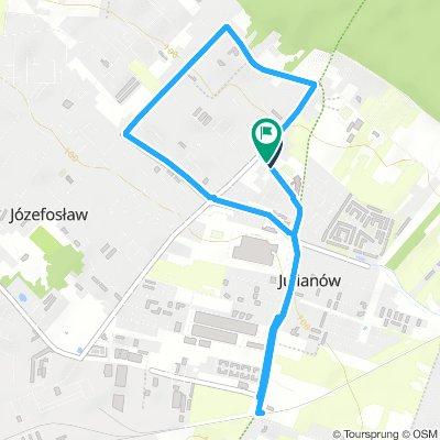 Lengthy Evening Track In Józefosław