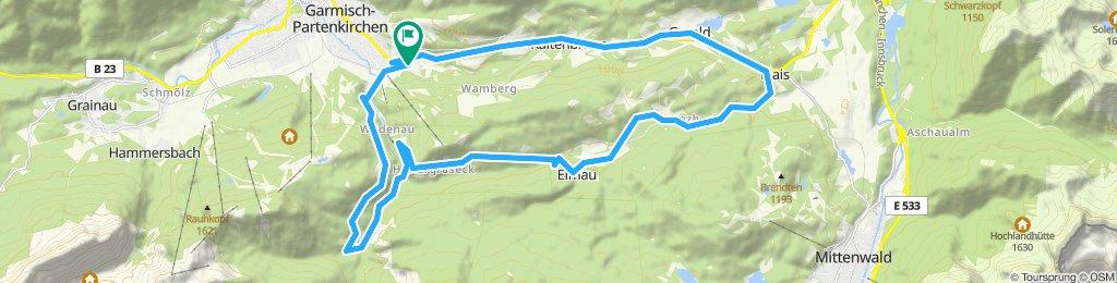 z-B07GAP-Skistadion-Schloss Elmau-Kaiserschmarrnalm-Hausberg