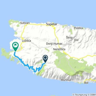 MTB AT island route BRAČ