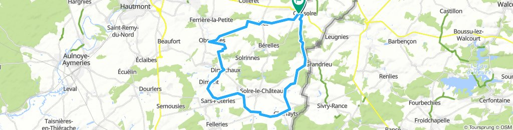 Autour Solre le Château 40 km
