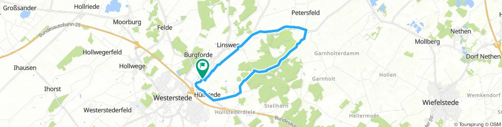 Radtour Hüllstede-Petersfeld