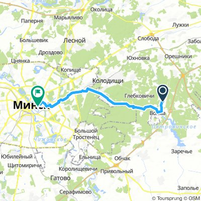 Ogonek to Minsk Centre - Minsk to Molesey