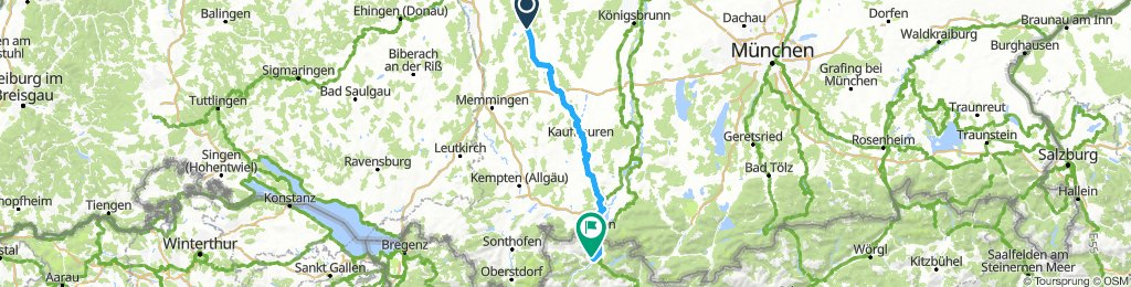 Krumbach (Schwaben) - Reutte (Tirol)
