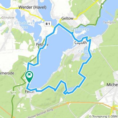 Cap.-Geltow - Schwielowsee - Ferch - Gr. Lienewitzsee - und zurück