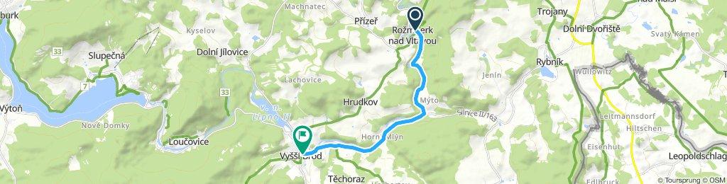 Rožmberk nad Vltavou - Vyšší Brod (9 km)