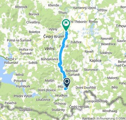 Rožmberk nad Vltavou - Glokner (25 km)