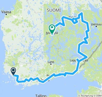 Fińskie pojezierze rowerem 2018
