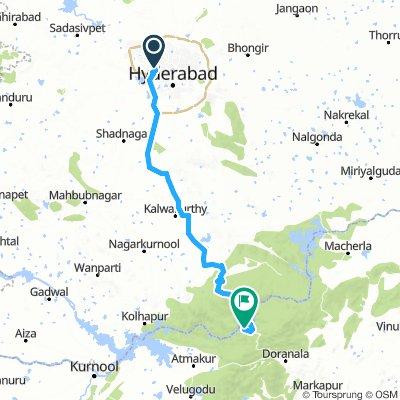 Hitec city (HYDERABAD) to Srisailam