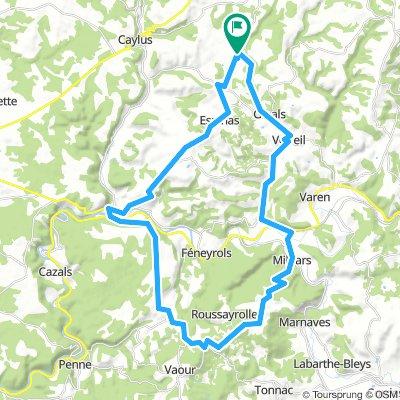 Tour des Gorges de l'Aveyron (version courte)