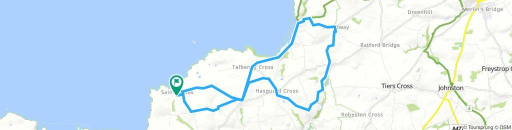 St Brides Castle, Little Haven, Broad Haven, Walwyn's Castle, Hayguard Cross, St Brides Castle