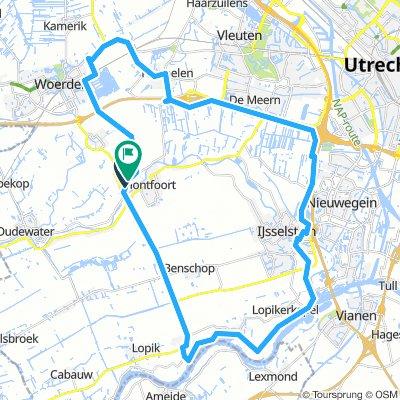 Montfoort Nederijnseplas Harmelen 48km