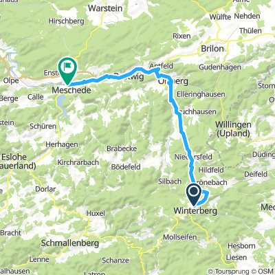 Radtour Winterberg - Meschede