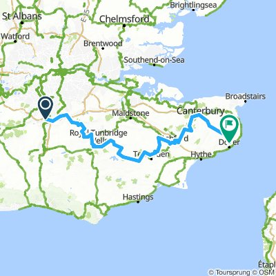 Merstham to Dover along NDW