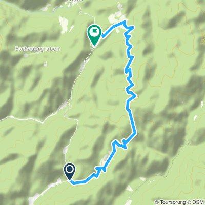 Genießer Mountainbikestrecke Krumpen - Abbrenn