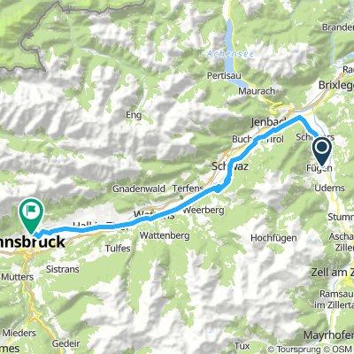 Innsbruck - dojazd na metę wyścigu