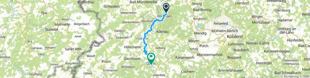 Ahrbrück nach Daum 61,3km