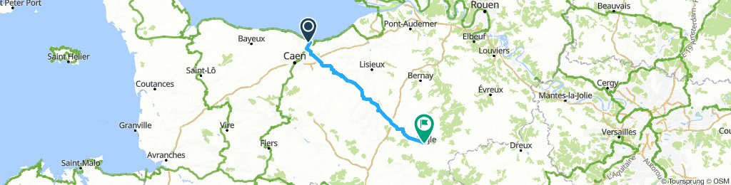 Day1- Ouistreham to L'Aigle