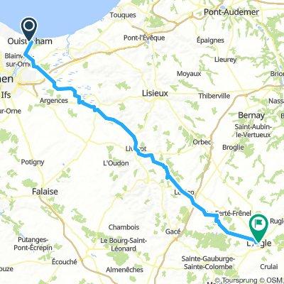 Day1- Ouistreham to L'Aigle