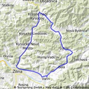 varín-budatín-krasnon/kysucou-zborov-stara bystrica-lutiše-varín CLONED FROM ROUTE 455393