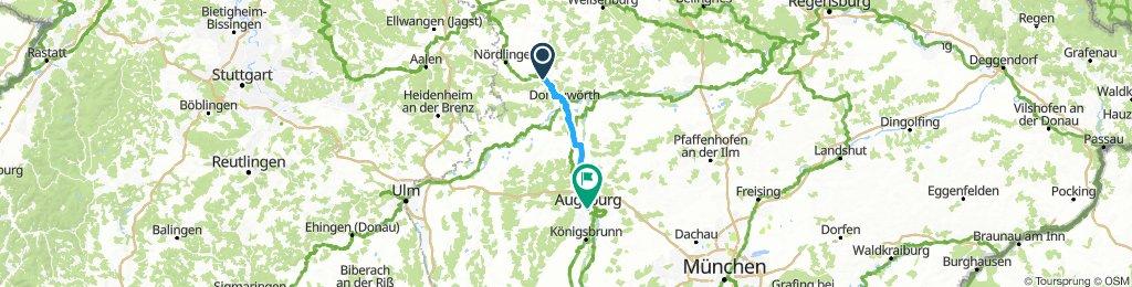 Harburg to Augsburg