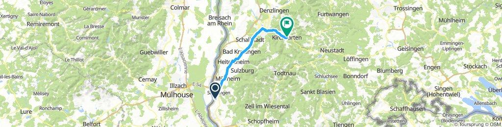 Schwarzwaldradweg Ettappe 4 Kirchzarten