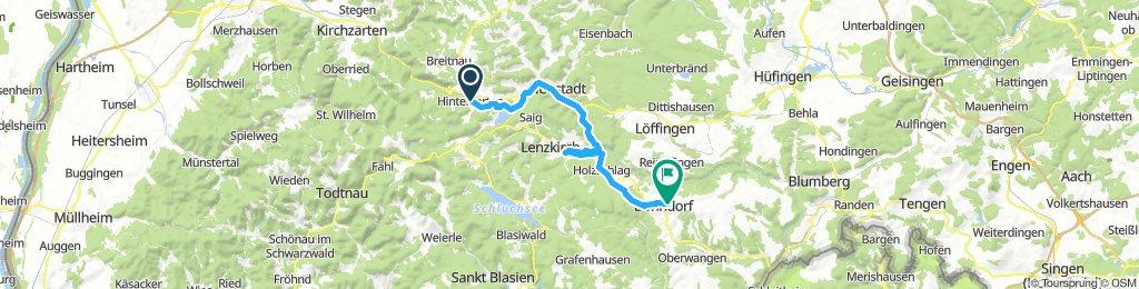 Schwarzwaldradweg Etappe 1 Bonndorf