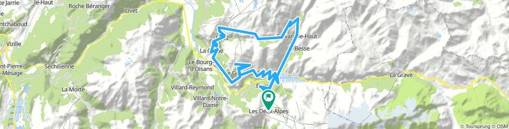 Les Deux-Alpes - Alpe d'Huez - Col de Sarenne