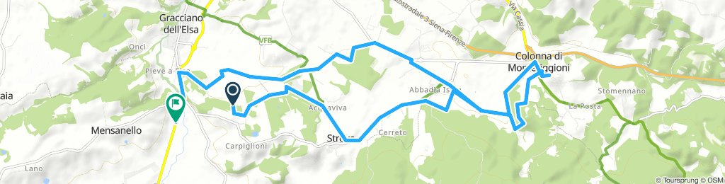 from Gippo to Monteriggioni loop