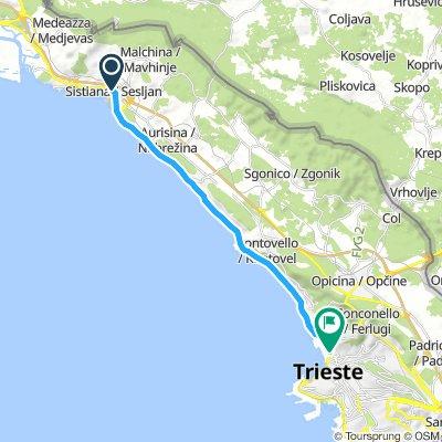 TR: Sistina - Triest (Küstenstrasse)